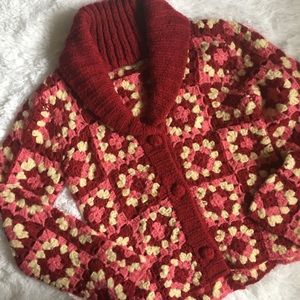Vintage Style Granny Square Cardigan